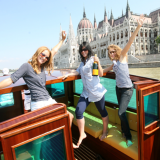 Party on a boat in front of the Parlaiment on your hen weekend - Danube Luxury Limousine Boat