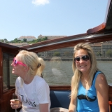 Enjoy a bottle of champagne on the leather seats - Danube Luxury Limousine Boat