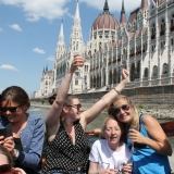 High quality built-in sound system, a mini-bar stocked with chilled champagne- you cannot miss this  - Danube Luxury Limousine Boat