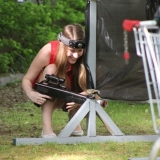 Exercise cures hangover after the hen party - Lasertag
