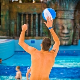 To make it more fun play water games with your girls on your hen weekend - Aquaworld