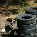Sweat out tiredness after your hen party - Paintball